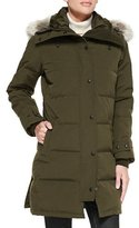 Canada Goose Shelburne Parka Coat with Fur Hood, Military Green