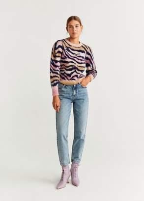 MANGO Animal print sweater