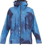 3 Moncler Grenoble - Tie Dye Effect Technical Shell Hooded Jacket - Mens - Blue