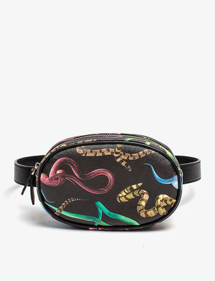 Seletti wears TOILETPAPER Snakes faux-leather belt bag