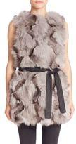 Trilogy Fox Fur Vest
