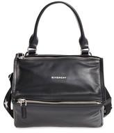 Givenchy Small Pandora - Logo Leather Satchel - Black