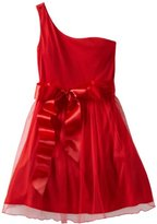 Ruby Rox Kids Girls 7-16 One Shoulder Tulle Party