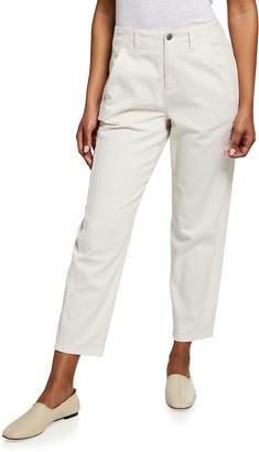 Eileen Fisher Organic Cotton High-Waist Denim Ankle Pant
