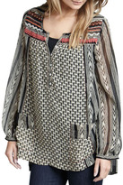 Free People Feather in the Wind Printed Top