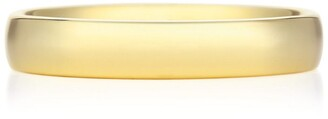 De Beers Medium Yellow Gold and Diamond Wide Court Band
