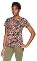 Rafaella Women's Printed Embellished Knit Tee
