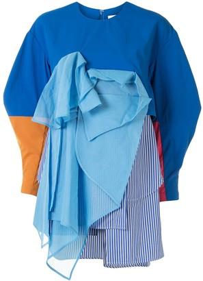 Enfold Draped Colour Block Blouse