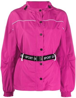 Liu Jo Belted-Waist Hooded Jacket