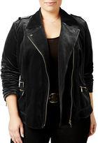 I.N.C International Concepts Plus Velvet Moto Jacket
