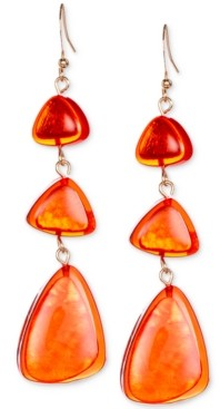 Style&Co. Style & Co Gold-Tone Resin Triple Drop Earrings, Created for Macy's