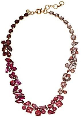 J.Crew Multi Facet Glitz Chain Necklace (Crystal) Necklace