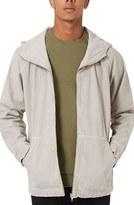 Topman Men's Hooded Zip Denim Jacket