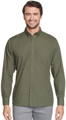 Van Heusen Men's Never Tuck Classic-Fit Gingham Button-Down Shirt