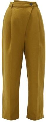 Mara Hoffman Almeria High-rise Linen-blend Trousers - Womens - Dark Green