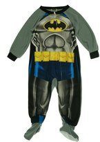 AME Sleepwear Toddler Boys' One-Piece Footed Batman Blanket Sleeper Pajamas