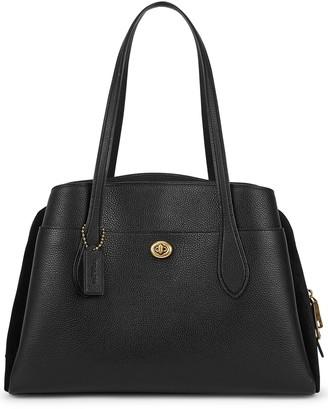 Coach Lora Black Leather Shoulder Bag