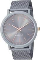 Nine West Women's NW/2166GYGY Rubberized Mesh Bracelet Watch