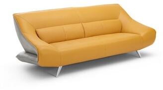 Boyertown Leather Sofa Orren Ellis
