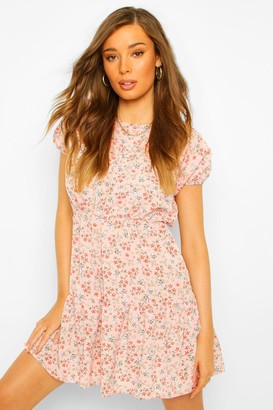 boohoo Floral Smock Dress