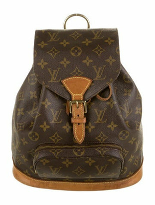 Louis Vuitton Vintage Monogram Montsouris MM Backpack Brown