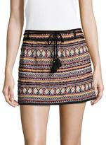 Antik Batik Sancha Cotton Embroidered Mini Skirt