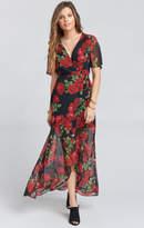 MUMU Marianne Wrap Dress ~ Budding Rosemance