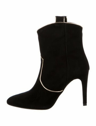Barneys New York Suede Western Boots w/ Tags Black
