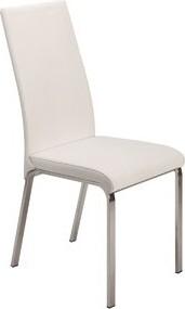 Orren Ellis Blakeney Leather Upholstered Side Chair in White (Set of 2