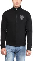 American Crew Men's Solid Full Sleeves Zipper Jacket With Applique -XL (ACJK06-XL)
