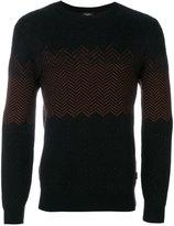 Calvin Klein contrast knitted sweatshirt