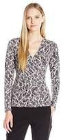 Anne Klein Women's Long Sleeve Wrap Top