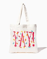 Charming charlie YAY! Canvas Tote