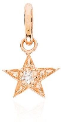 Gigi Clozeau 18kt Rose Gold And Diamond Star Charm