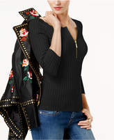 INC International Concepts Zip-Front Sweater, Created for Macy's