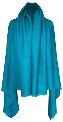 Julahas Pure Wool Poncho Daria Cape Thalassa - Sea Green