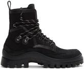 DSQUARED2 Black Canvas Hiker Boots
