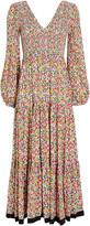 Rixo Brooke Micro Floral Midi Dress