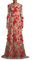 David Meister Floral Evening Gown