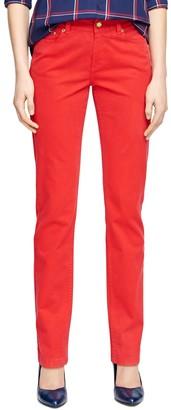 Brooks Brothers Natalie Fit Five-Pocket Cotton Pants