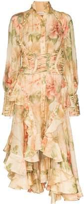 Zimmermann Antique Peony print corset dress