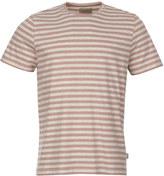 Oliver Spencer T Shirt OSMK580-CAP01PIN Pink Stripe