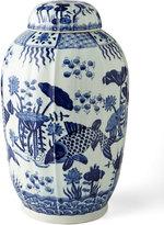 Horchow Vintage Koi Ginger Jar