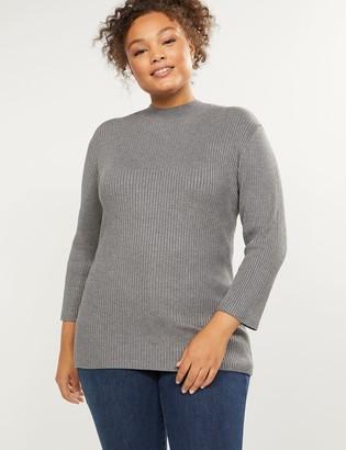 Lane Bryant Ribbed Mock-Neck Sweater