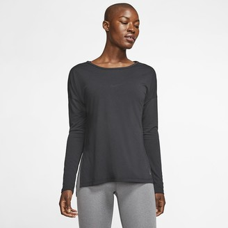 Nike Women's Long-Sleeve Training Top Dri-FIT Yoga