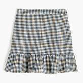 J.Crew Petite ruffle mini skirt in houndstooth