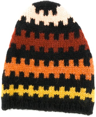 Plan C Geometric Embroidered Beanie Hat