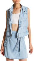 BB Dakota Xavier Collared Chambray Vest
