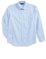 Report Collection Boy's Geo Print Dress Shirt