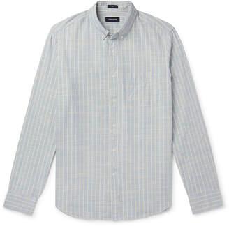 J.Crew Button-Down Collar Striped Cotton-Chambray Shirt